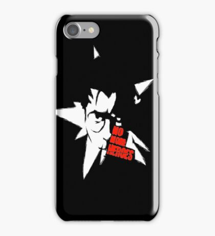 No More Heroes - Star (Red Text) iPhone Case/Skin