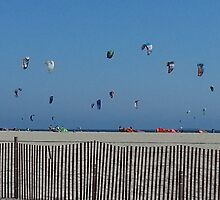 Kite Surfing Traffic Jam by Matthew Nickle