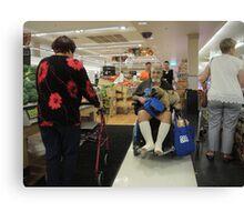 Shopping encounter Canvas Print