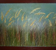 Wild Bulrushes  by Redviolin