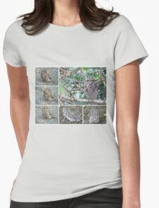 Tawny Frogmouth collage Womens Fitted T-Shirt