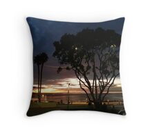 Near the RB Pier at Night Throw Pillow