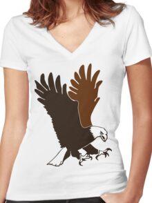 Wildlife- Bald Eagle ! Women's Fitted V-Neck T-Shirt