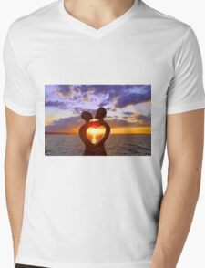 Aglow with Love Mens V-Neck T-Shirt
