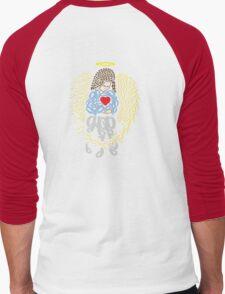 Angel Typography  Men's Baseball ¾ T-Shirt