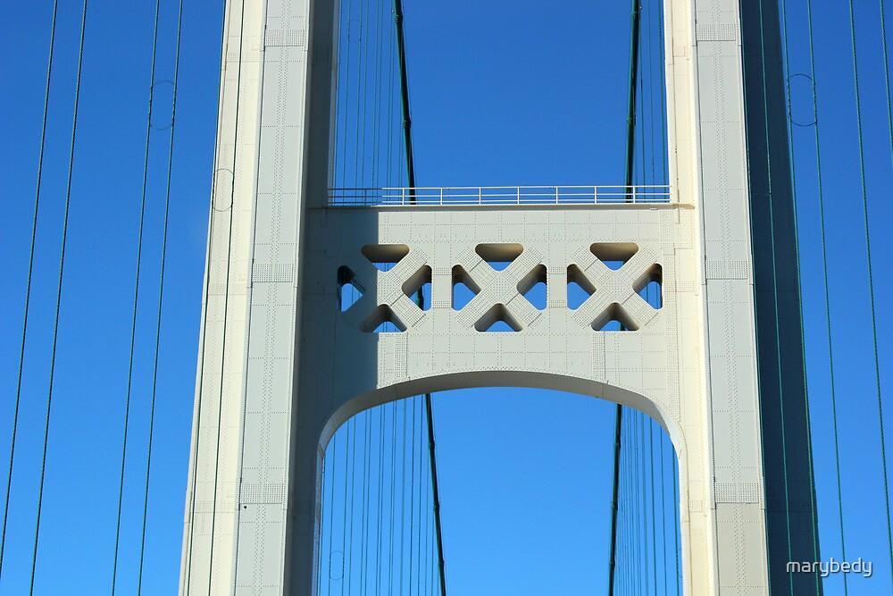 Mackinac Bridge Detail 3 by marybedy