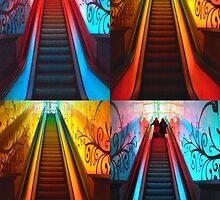 Escalator Collage No. II by biddumy