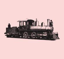 vintage train illustration Kids Clothes