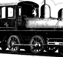 vintage train illustration Sticker