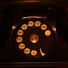 Black Rotary Phone by Robert Armendariz