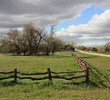 Country Wooden Fence with Storm Cloud's by ROBERTDBROZEK