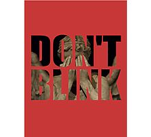 Doctor Who - Don't Blink (Coloured Background) Photographic Print
