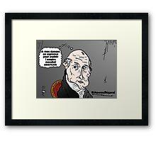 James MONROE chauve webcomic Framed Print