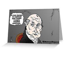 James MONROE chauve webcomic Greeting Card