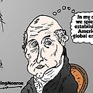 Bald James Monroe opinion cartoon by Binary-Options