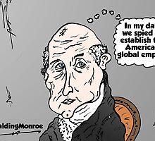 Bald James Monroe opinion cartoon by Binary-Options