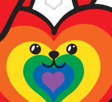 Heart Shaped GeoBunny Rainbow Sticker