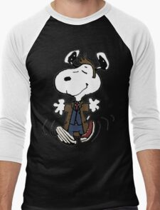 Snoopy as the 10th Doctor Men's Baseball ¾ T-Shirt