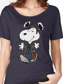 Snoopy as the 10th Doctor Women's Relaxed Fit T-Shirt