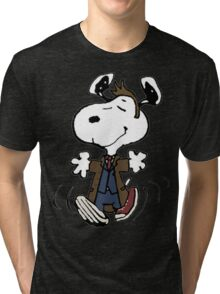 Snoopy as the 10th Doctor Tri-blend T-Shirt