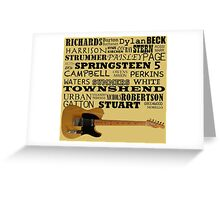 Telecaster Rock & Roll Greeting Card