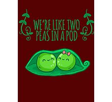 Love of Peas, love of peas in a pod Photographic Print