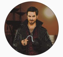 "Captain Hook Comic Poster ""Sunset"" Logoless Design Kids Clothes"