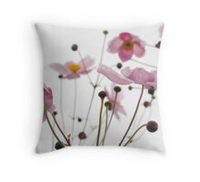 Lovely Pink Blossoms Throw Pillow