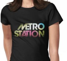 Metro Station Womens Fitted T-Shirt
