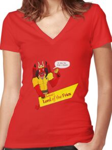 Beelzebub's Lord of the Fries Women's Fitted V-Neck T-Shirt
