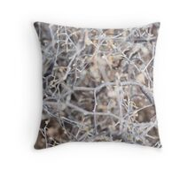 Frozen Branches Lovely Theme Throw Pillow