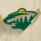 Minnesota Wild Minimalist Print by SomebodyApparel