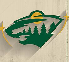 Minnesota Wild Minimalistic Print by SomebodyApparel
