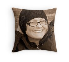 H - Flapper Hat Throw Pillow