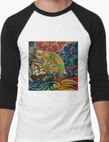 Black Sails and Mandala Skies Men's Baseball ¾ T-Shirt