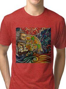 Black Sails and Mandala Skies Tri-blend T-Shirt