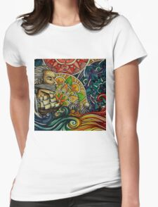 Black Sails and Mandala Skies Womens Fitted T-Shirt