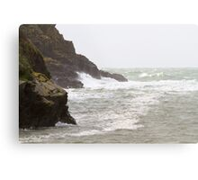 Rough seas in Port Quin Cornwall Metal Print
