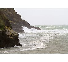 Rough seas in Port Quin Cornwall Photographic Print