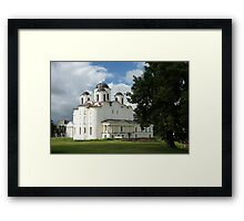 Saint Nicholas Cathedral in Veliky Novgorod, Russia Framed Print