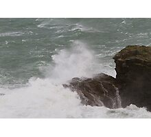 Rough seas in Port Isaac Cornwall Photographic Print
