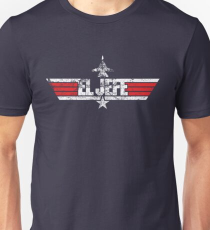 Custom Top Gun Style Style - El Jefe Unisex T-Shirt