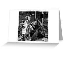 Moped fun. Greeting Card