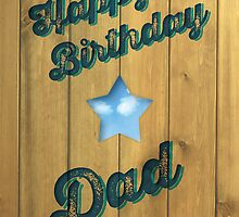 Wood Stamp Happy Birthday Dad by rperrydesign