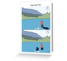 Father's day fishing cards - funny fisherman cartoon Greeting Card