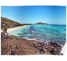 sand, sea & sun + reefs & rocks = perfect beach Poster