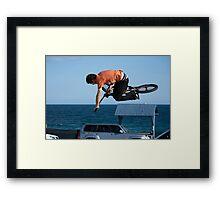 Mega Air - Empire Park Skate Park Framed Print