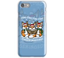 """What does the Fox Sing""  (sticker) iPhone Case/Skin"