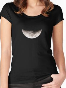 Almost Half Moon Setting Women's Fitted Scoop T-Shirt