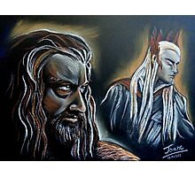 """He never forgave, he never forgot"" Thorin and Thranduil Photographic Print"
